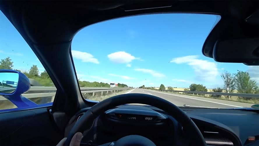 Watch A McLaren 720S Effortlessly Hit 202 MPH On The Autobahn