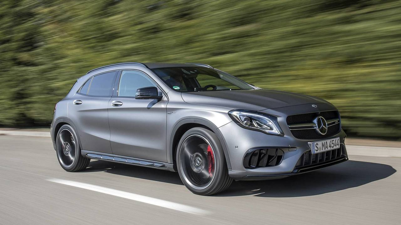 1. Mercedes-AMG CLA45 / GLA45: @.0L turbocharger I4, 375 hp, 350 lb-ft