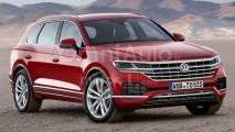 Nuova Volkswagen Touareg, il rendering