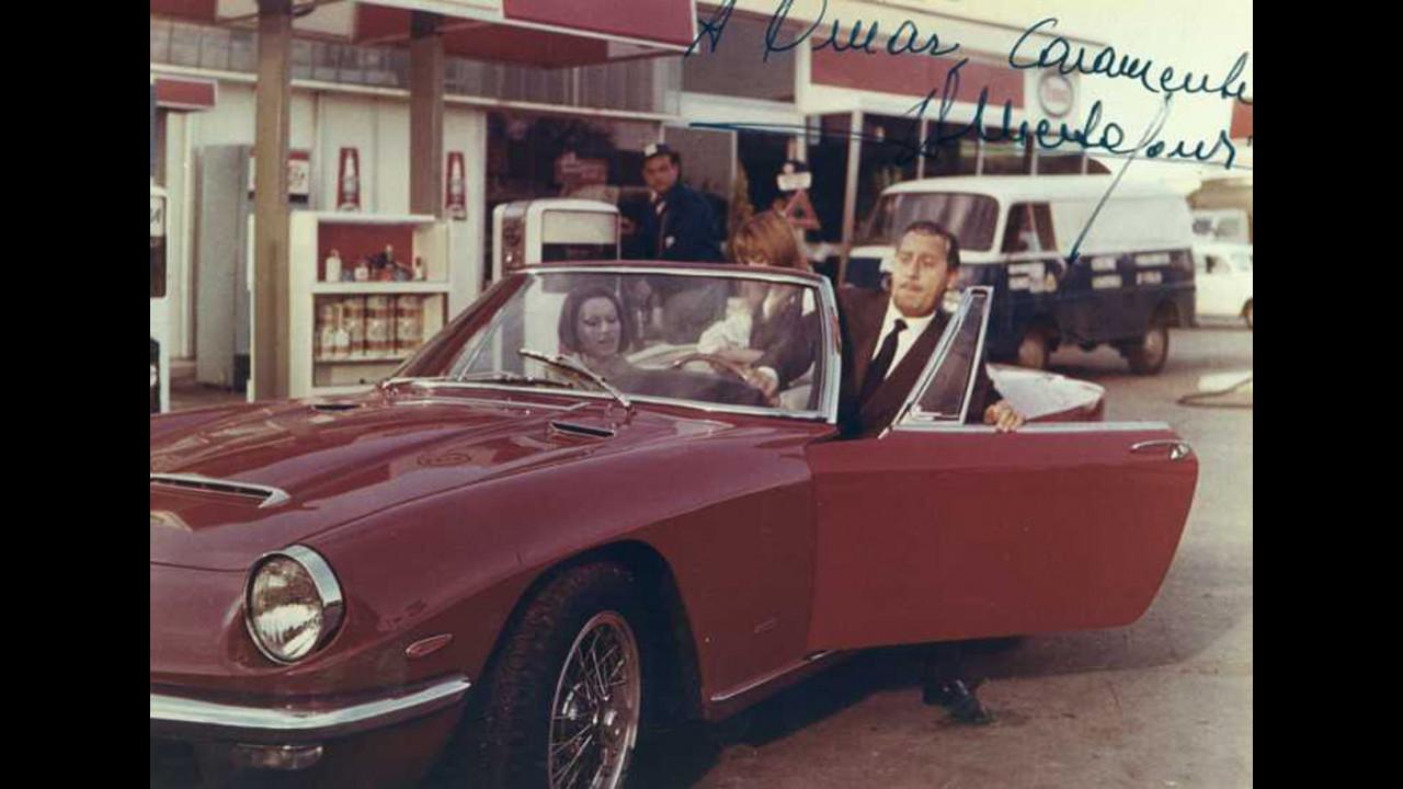 Alberto Sordi e la Maserati Ghibli Spyder