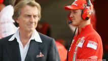 Michael Schumacher and Luca di Montezemolo