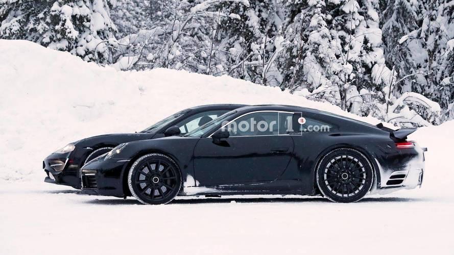 Porsche Mission E and 911 Spy Shots