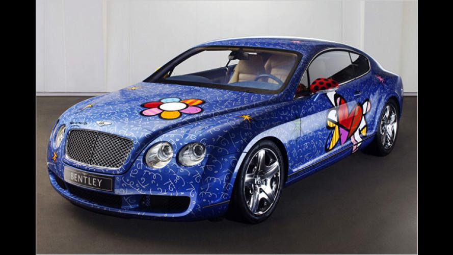 Pop-Art wie in den 60er-Jahren: Edler Bentley mal ganz bunt