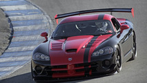 A street-legal 2010 Dodge Viper SRT10 ACR driven by Chris Winkler, SRT vehicle dynamics engineer, set a new lap record of 1:33.915 at the Laguna Seca raceway in Monterey, Calif., shattering the previous lap record by more than 1.1 seconds.