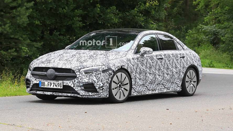 Mercedes-AMG A35 Sedan Spied Keeping Camouflaged At The 'Ring
