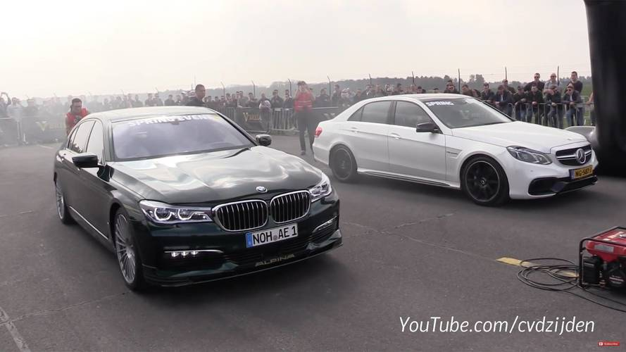 RS6 Avant, AMG E63 Try To Keep Up With Alpina B7 In Drag Races