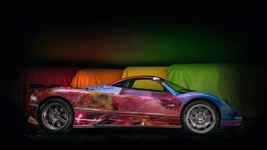 Pagani Gets Art Car Treatment With Colorful, Hand-Painted ...