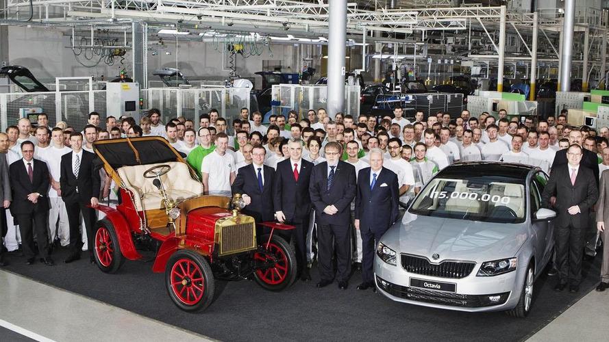 Skoda builds its 15-millionth automobile