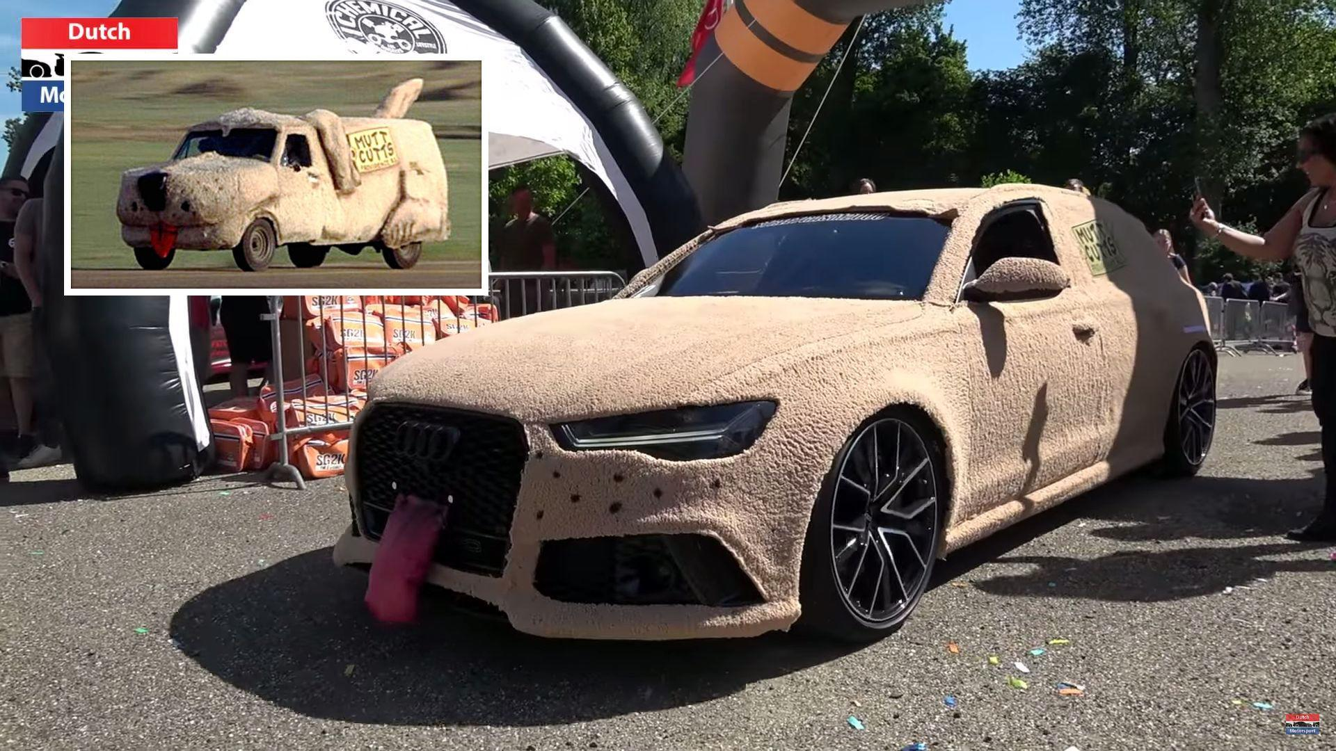 audi rs6 shaggin 39 wagon is tribute to dumb and dumber van. Black Bedroom Furniture Sets. Home Design Ideas