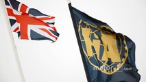 Union and FIA flags