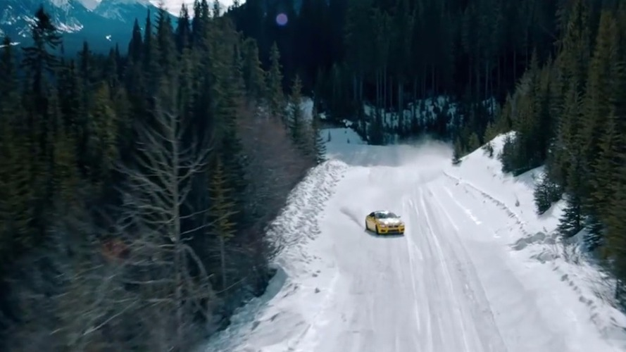 BMW M6 tears up frozen Calgary lake in Pennzoil video
