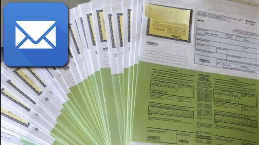 Rca: certificato assicurativo via mail