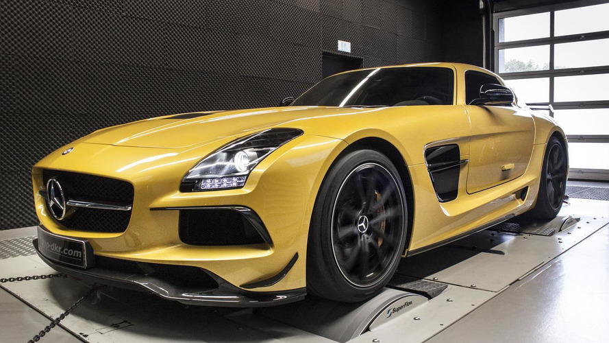 Mercedes-Benz SLS AMG Black Series dialed up to 654 PS by mcchip-dkr