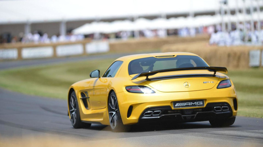 Mercedes A45 AMG & SLS AMG Black Series arrive at Goodwood