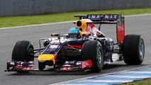 Sebastian Vettel Red Bull Racing RB10  Formula One Testing Jerez Spain