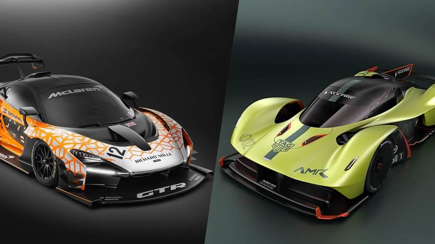 McLaren Senna GTR vs Aston Martin Valkyrie AMR Pro