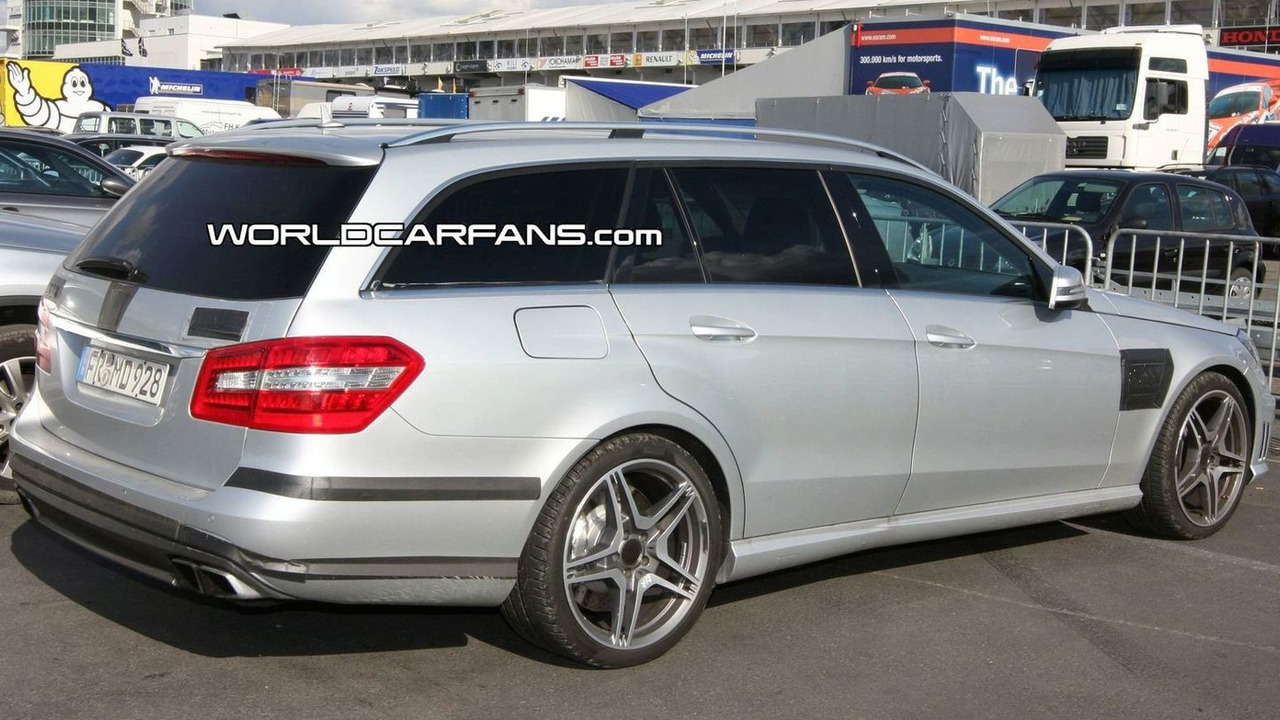 2010 mercedes benz e 63 amg wagon amg spied in daylight for 2010 mercedes benz e350 wagon for sale