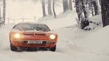 Lamborghini Miura in snow