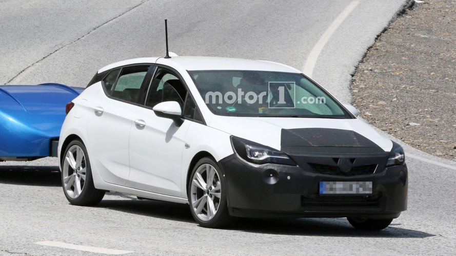 Opel Astra Facelift Spied Towing A Trailer
