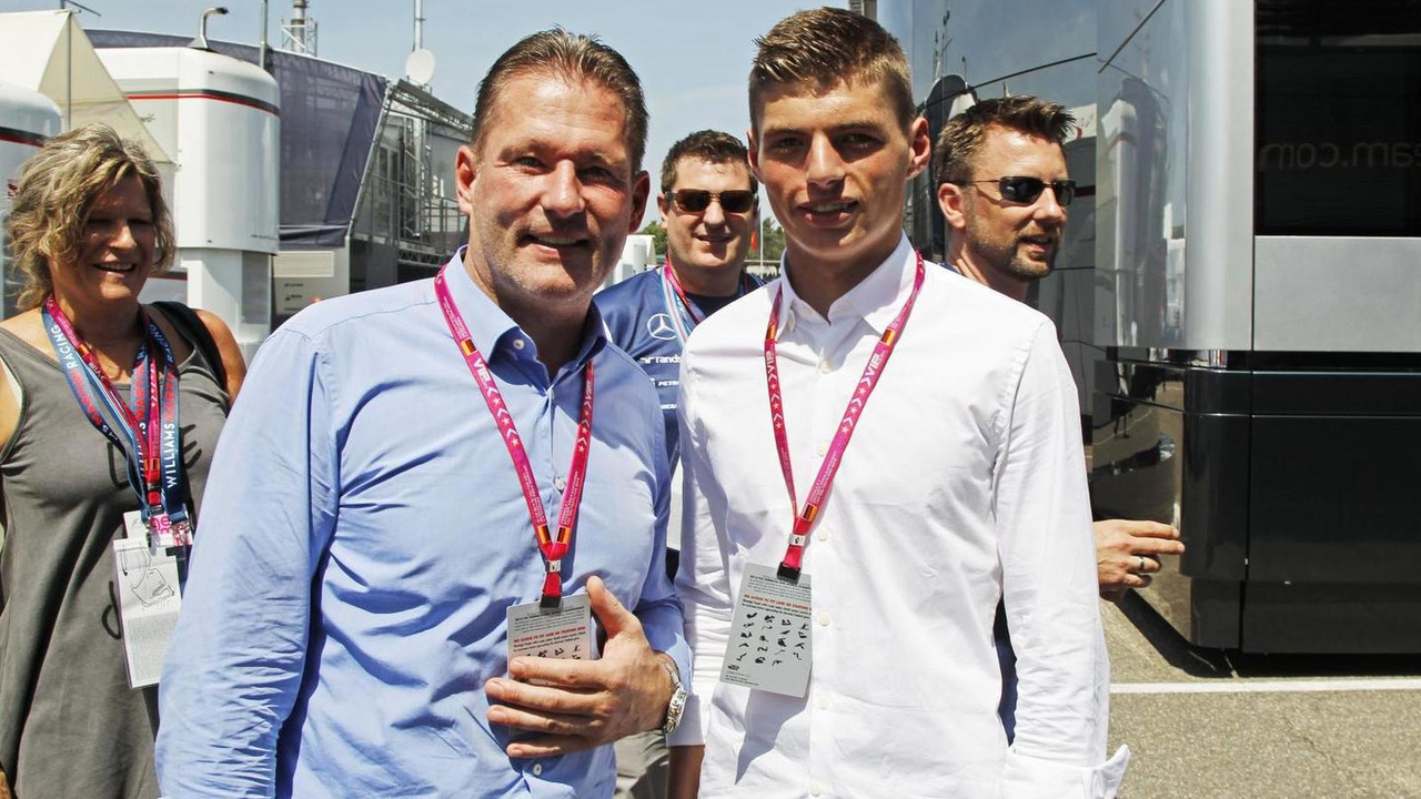 Jos Verstappen (NLD) with his son Max Verstappen (NLD), 19.07.2014, German Grand Prix, Hockenheim / XPB