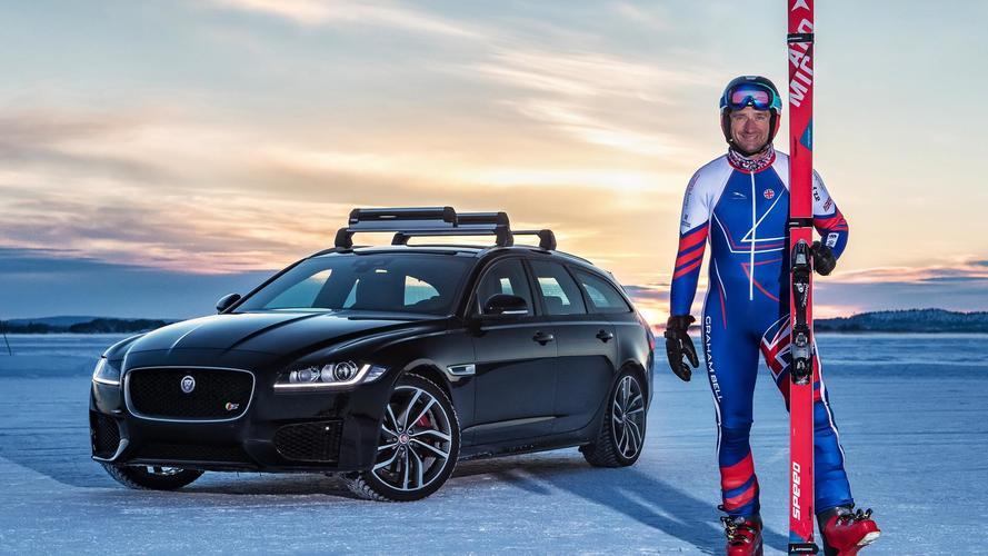 Graham Bell Arjeplog Jaguar XF ski record
