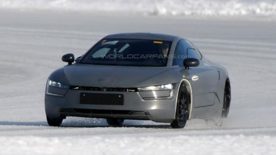 Volkswagen XL1 prototype caught completely undisguised