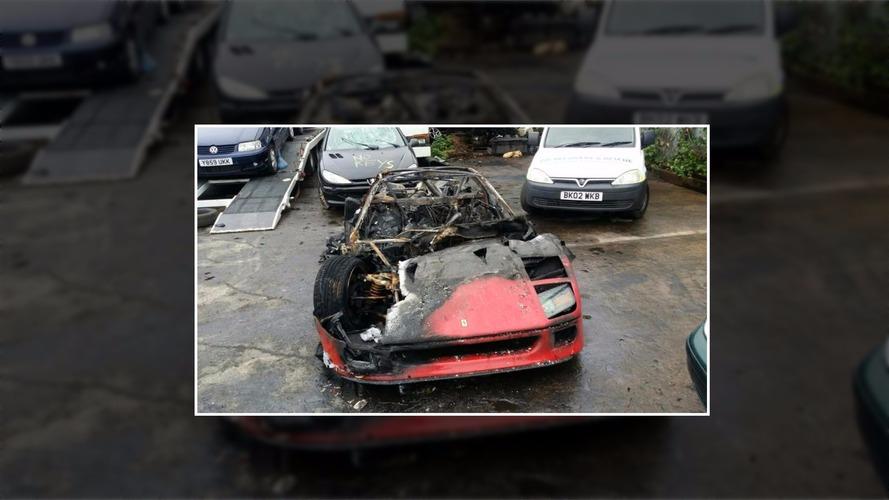Restore edilmiş Ferrari F40 alevler içinde kaldı