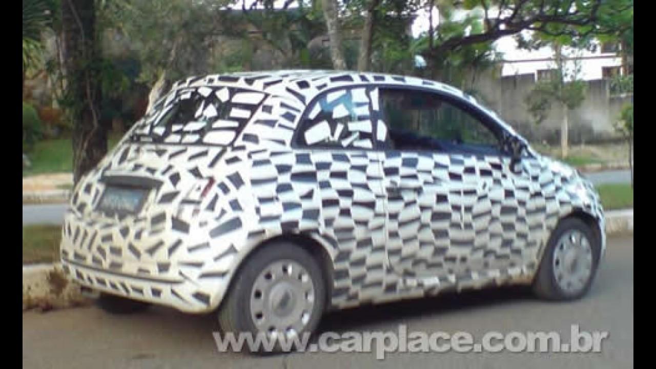 Pequeno Fiat 500 é flagrado camuflado rodando no Brasil - Será apenas testes?