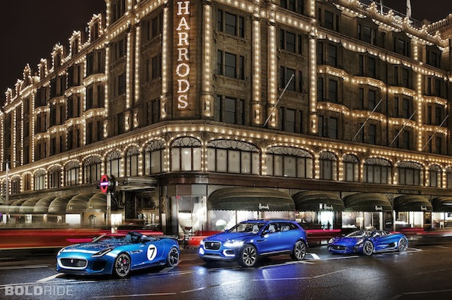 Wheels Wallpaper: Jaguar Trio Takes to London