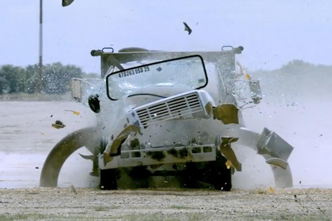 Watch Some Texans Destroy Trucks to Stop Terrorists