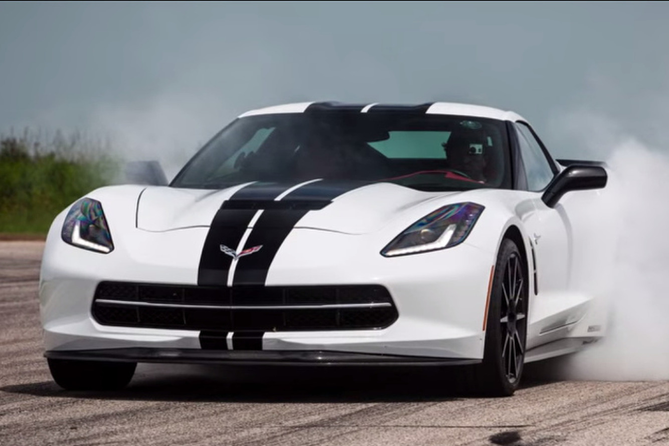 Watch The Hennessey Corvette HPE700 Turn Tires Into Smoke [Video]