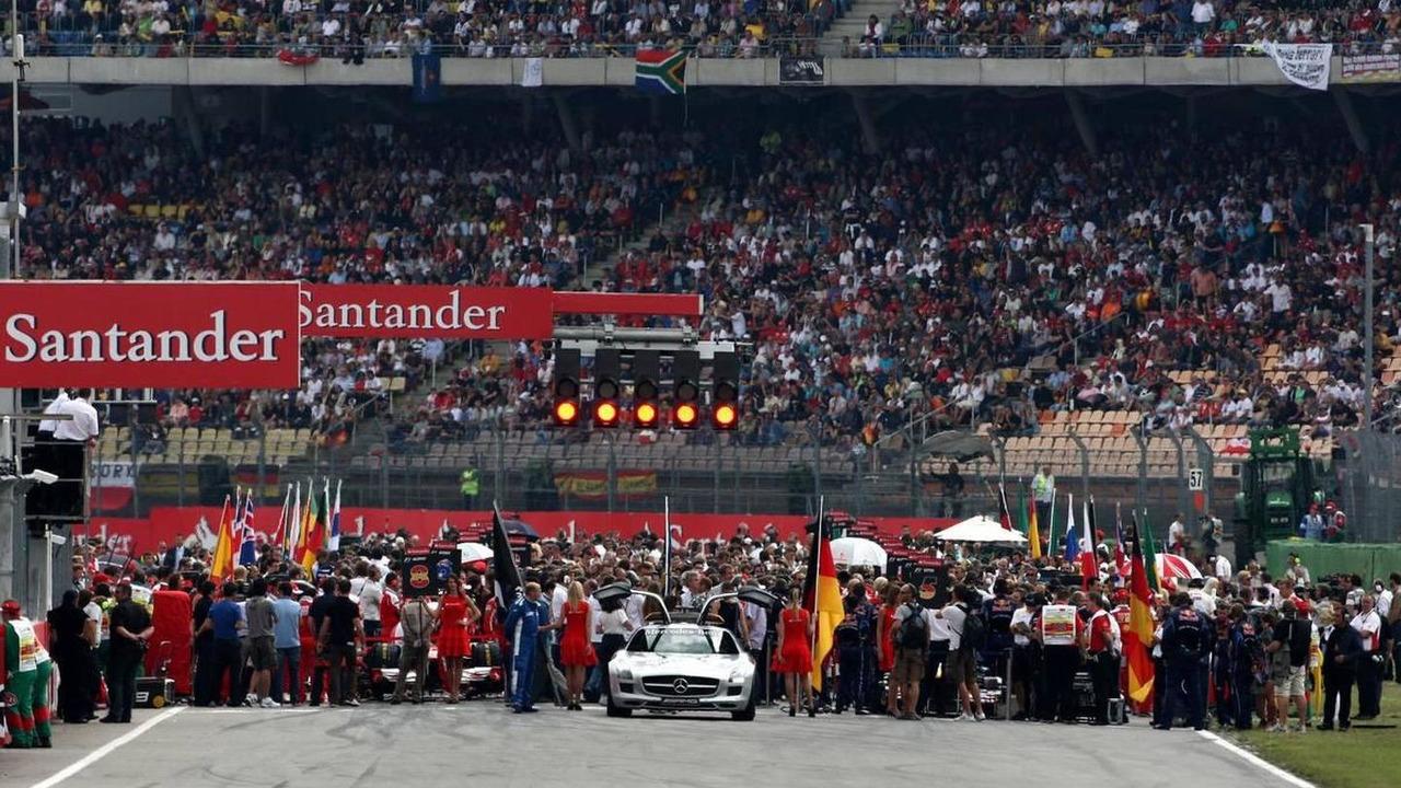 Starting grid, German Grand Prix, Sunday Race, 25.07.2010 Hockenheim, Germany