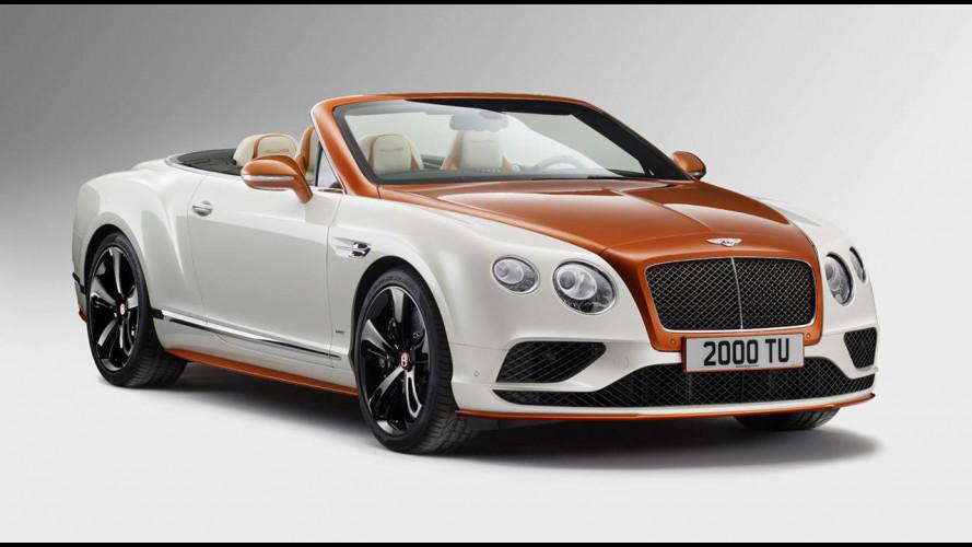 Bentley Continental Orange Flame, unica e bicolore