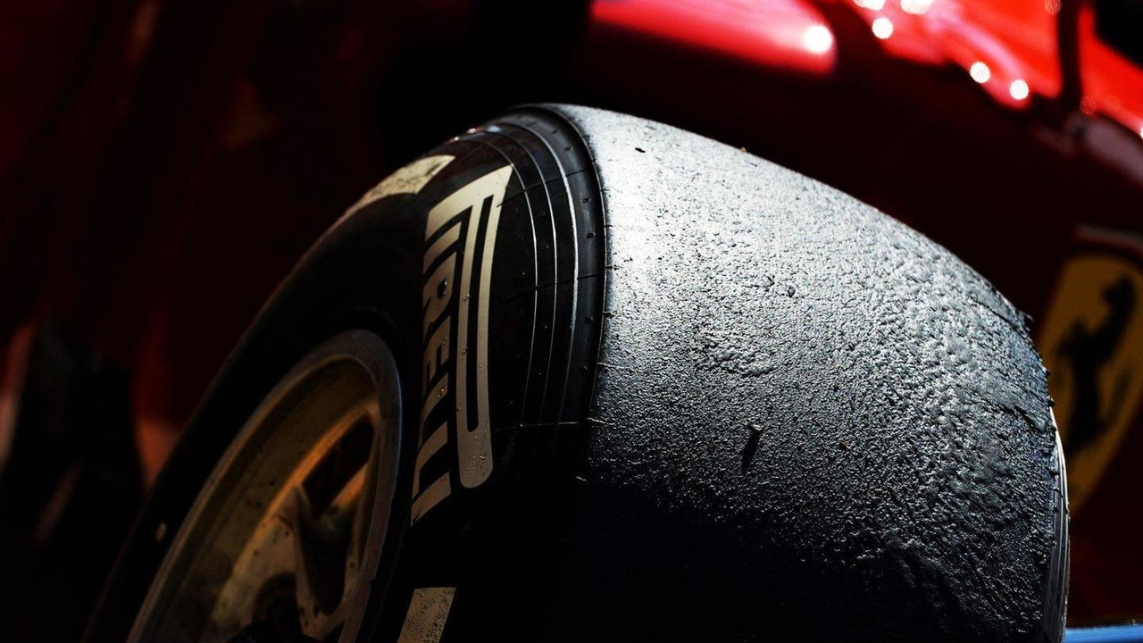 Pirelli tire on a Ferrari F138 26.07.2013 Hungarian Grand Prix