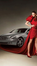 Mercedes CLS Grand Edition with model Julia Stegner