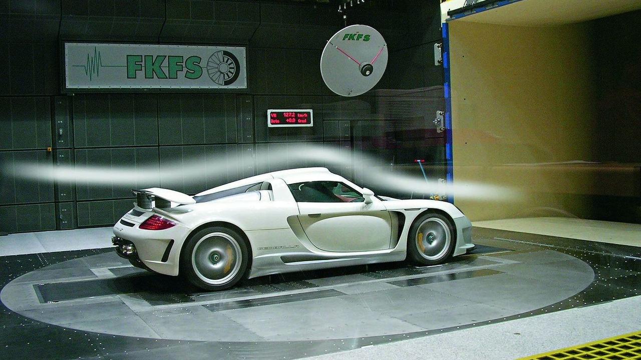 Gemballa Carrera GT rüzgâr testi