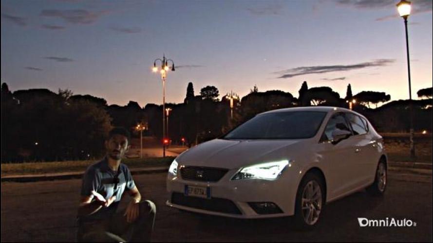 Nuova Seat Leon 1.6 TDI 105 CV, prova su strada dei fari full LED [VIDEO]