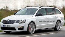 Skoda Superb Combi RS render