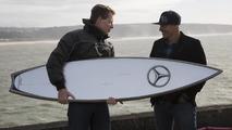 Mercedes-Benz surfboard for Garrett McNamara