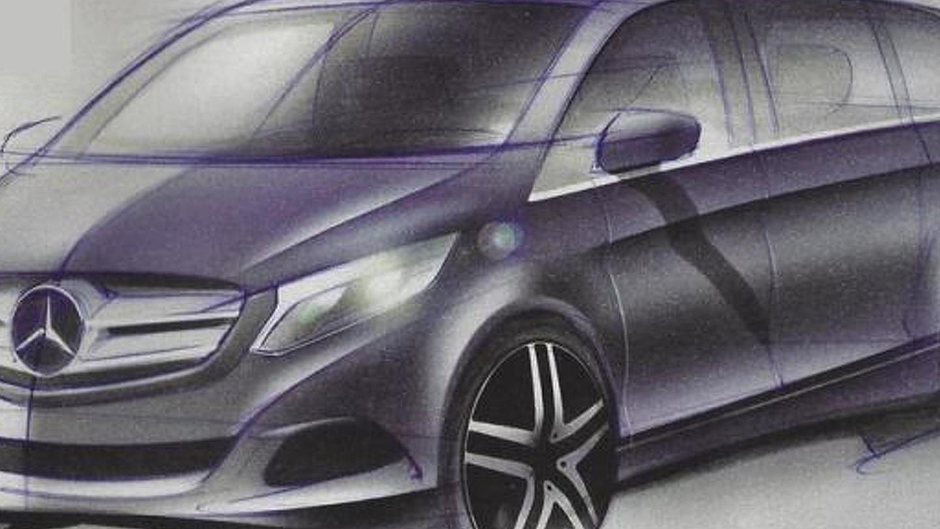 2014 mercedes benz viano design sketches leaked. Black Bedroom Furniture Sets. Home Design Ideas