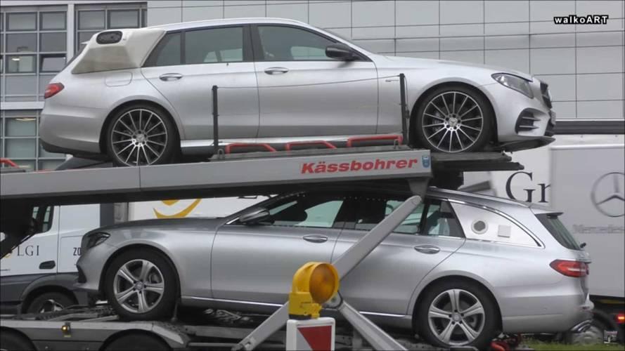 Weird Mercedes GLS, E-Class Wagon Prototypes Spotted