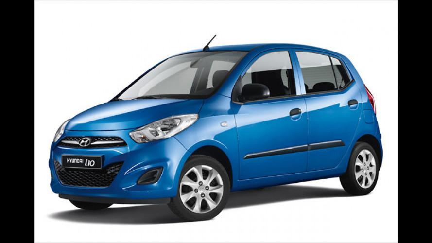 Bis zu 3.495 Euro sparen bei Hyundai i10, i20 und i30
