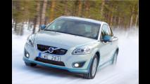 Elektro-Volvo in der Kälte