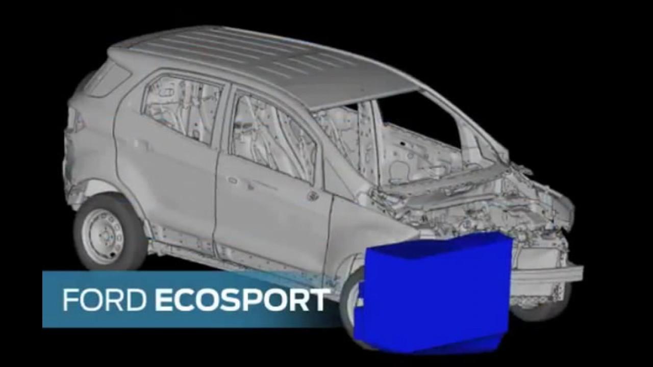 Novo Ecosport 2013 - Vídeo de crash test mostra o modelo