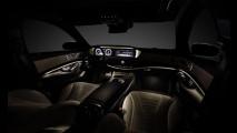 Novo Mercedes Classe S é flagrado em gravação de comercial
