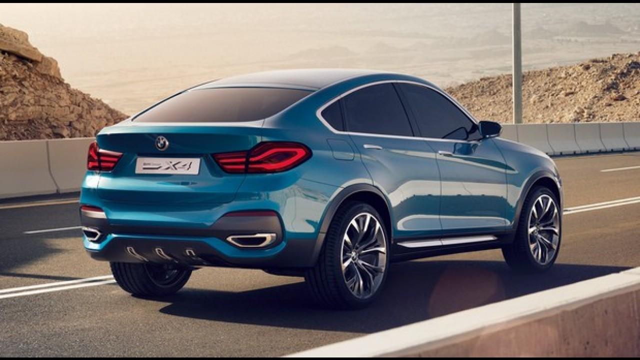 BMW X4 de produção será apresentado em abril, no Salão de Nova York