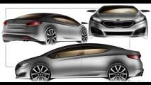 Novo Kia Cerato 2013 aparece em primeiros sketches