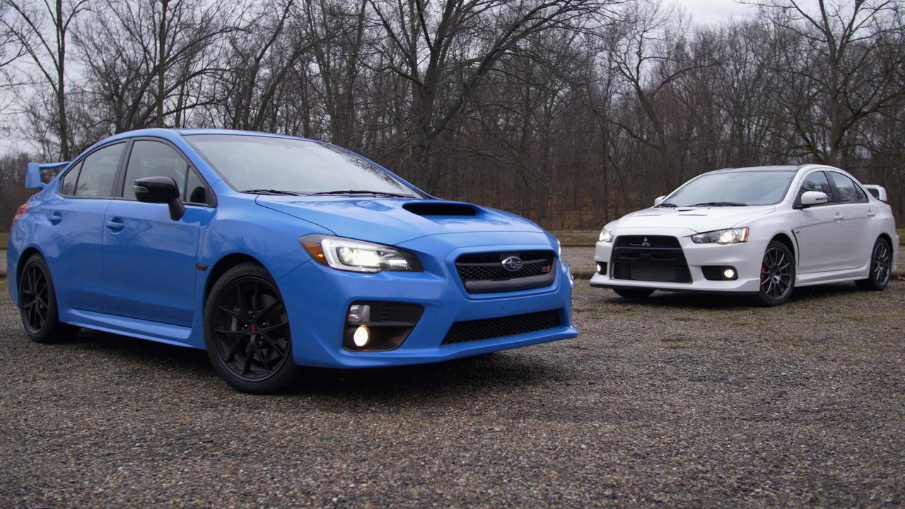Not a comparison test: Mitsubishi Lancer Evo vs. Subaru WRX STI