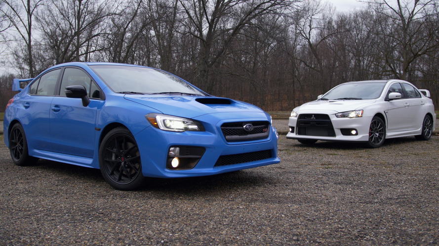 Not a comparison test: Mitsubishi Lancer Evo vs. Subaru WRX STI