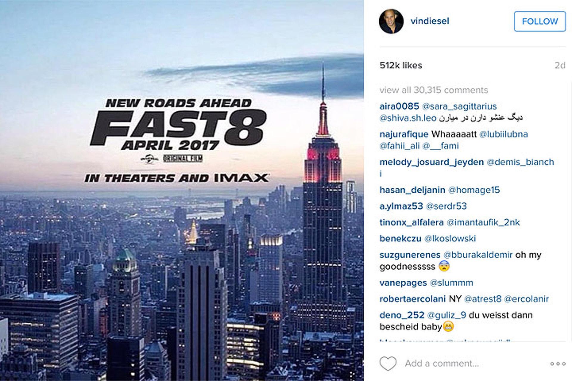 Vin Diesel Reveals